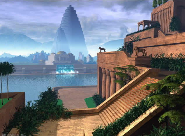 Seven Wonders Of The World Hanging Gardens Of Babylon Al Hillah Iraq