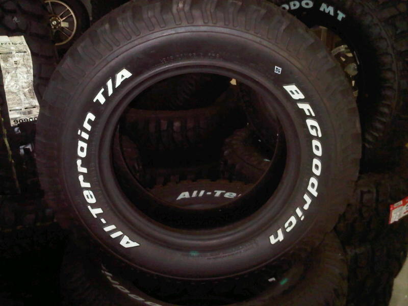 For Sale Ban Bfgoodrich All Terrain Ukuran