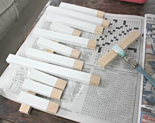 wood key fob process