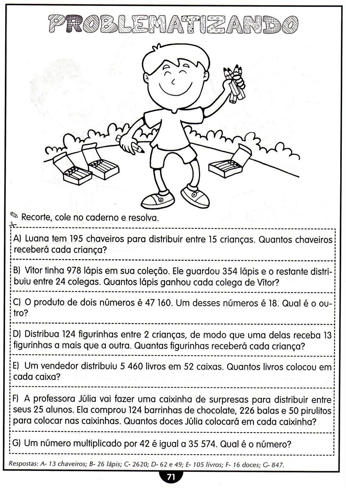 Problemas de Matemática 4º ano