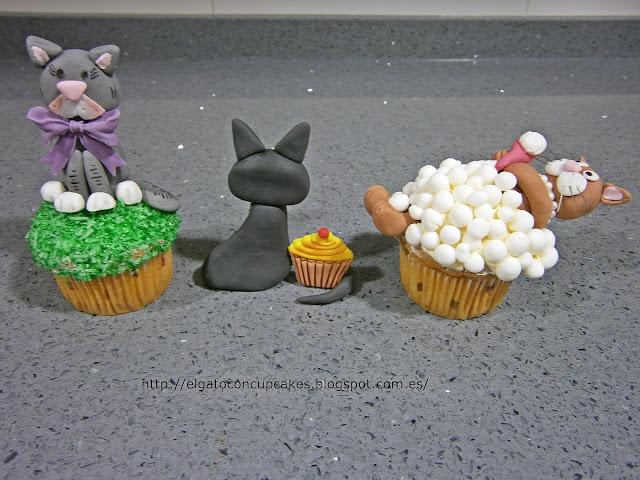 cupcakes gatos