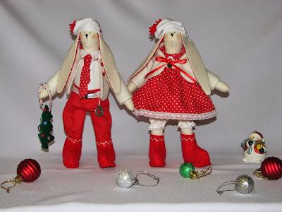 новогодние тильда зайцы