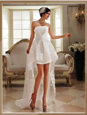 Model Gaun Pengantin Tanpa Lengan