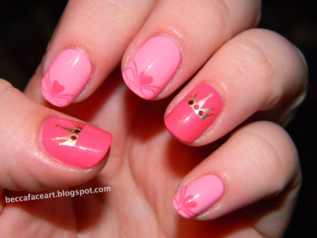 becca face nail art pretty