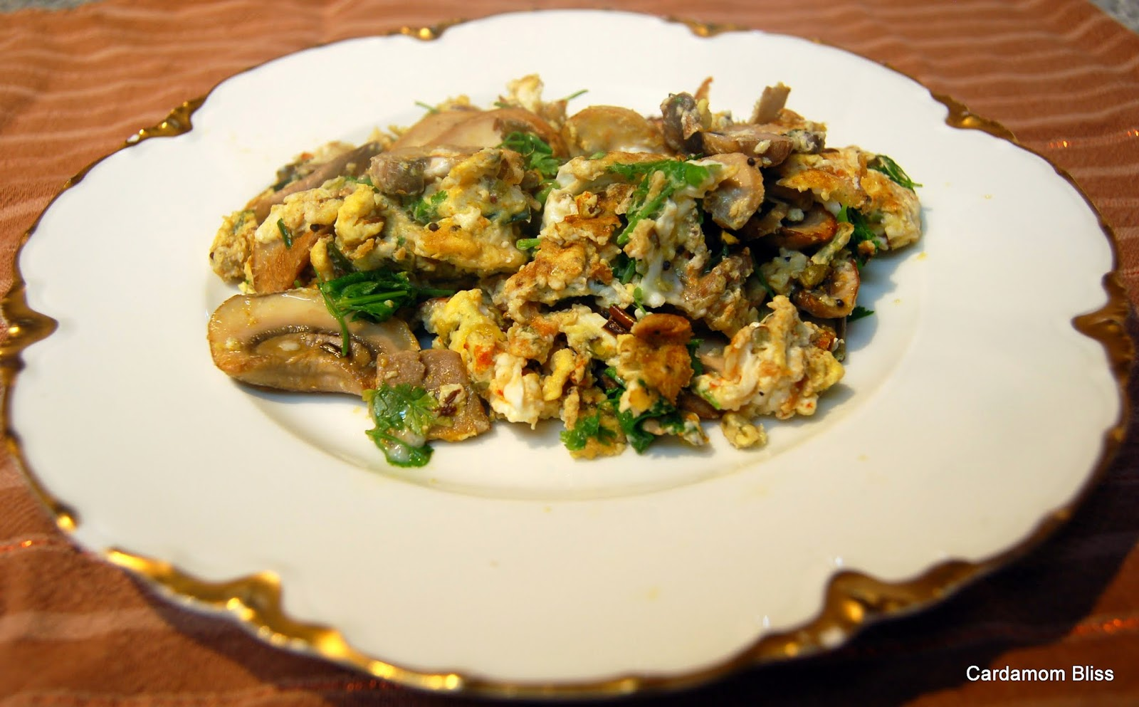 Garlic Scape Bhurji (eggs)