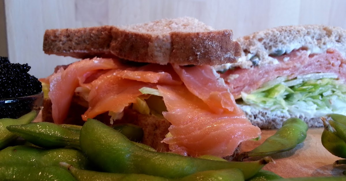 ... World Delights: Smoked Salmon, Cream Cheese and Salad Sandwich