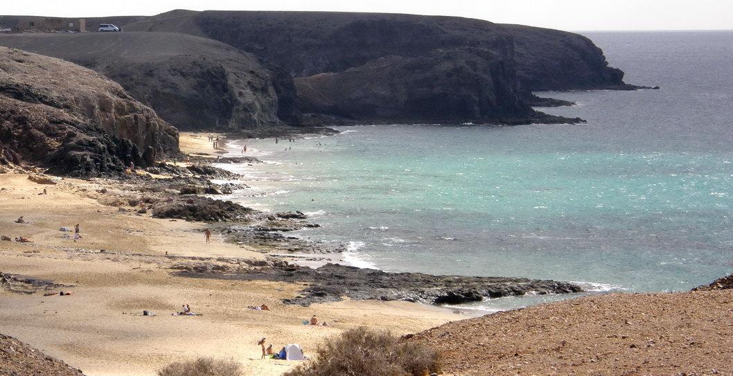 Playas nudistas de Papagayo (Lanzarote)