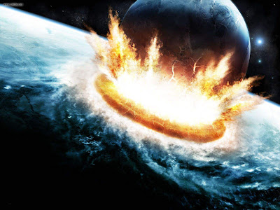 Space art wallpaper meteor