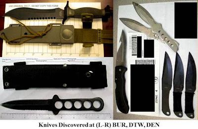 8 large knives.