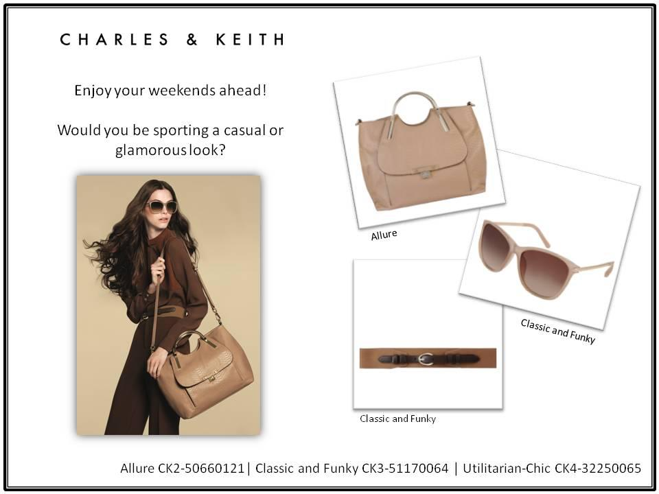 charles keith essay Charles & keith essay sample 1 introduction charles and keith is one of the many popular brands in singapore that made it worldwide it is known for its women's shoes, bags, sunglasses and accessories that make women feel confident and reduce the stress in the daily life within affordable prices.