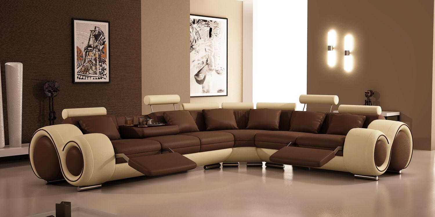 Living room paint ideas interior home design for Living room ideas with brown couch