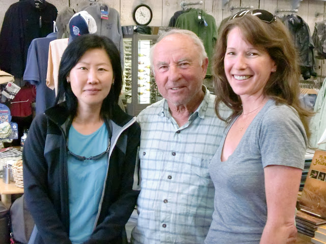 2 Flygirls (Hyun Kounne and Josee) with Yvon Chouinard