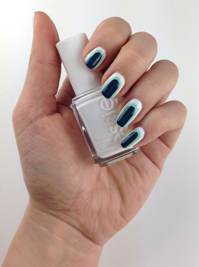 teal and mint Naildesign Nageldesign Nailsallover sehr einfach