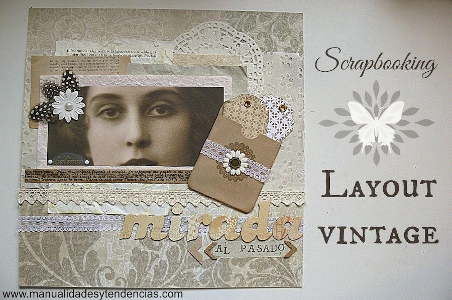 Layout vintage blanco