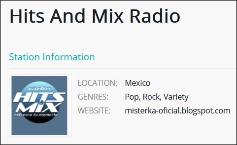 HITS AND MIX RADIO en la página de TUNEYOU.