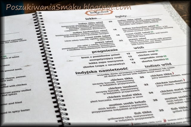 bollywood lounge menu