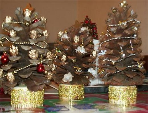 and speaking of christmas trees kids can make and decorate their very own trees with large pine cones - Decorating Large Pine Cones For Christmas