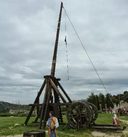 Trebuchet at Château des Baux, France