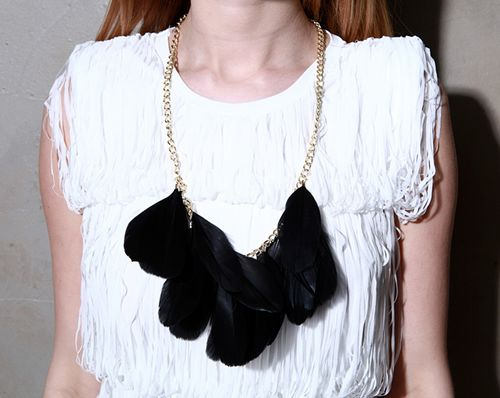 Feather Tassle Necklace