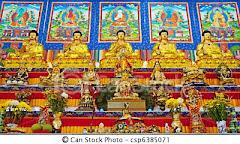 Altar de um templo budista tibetano