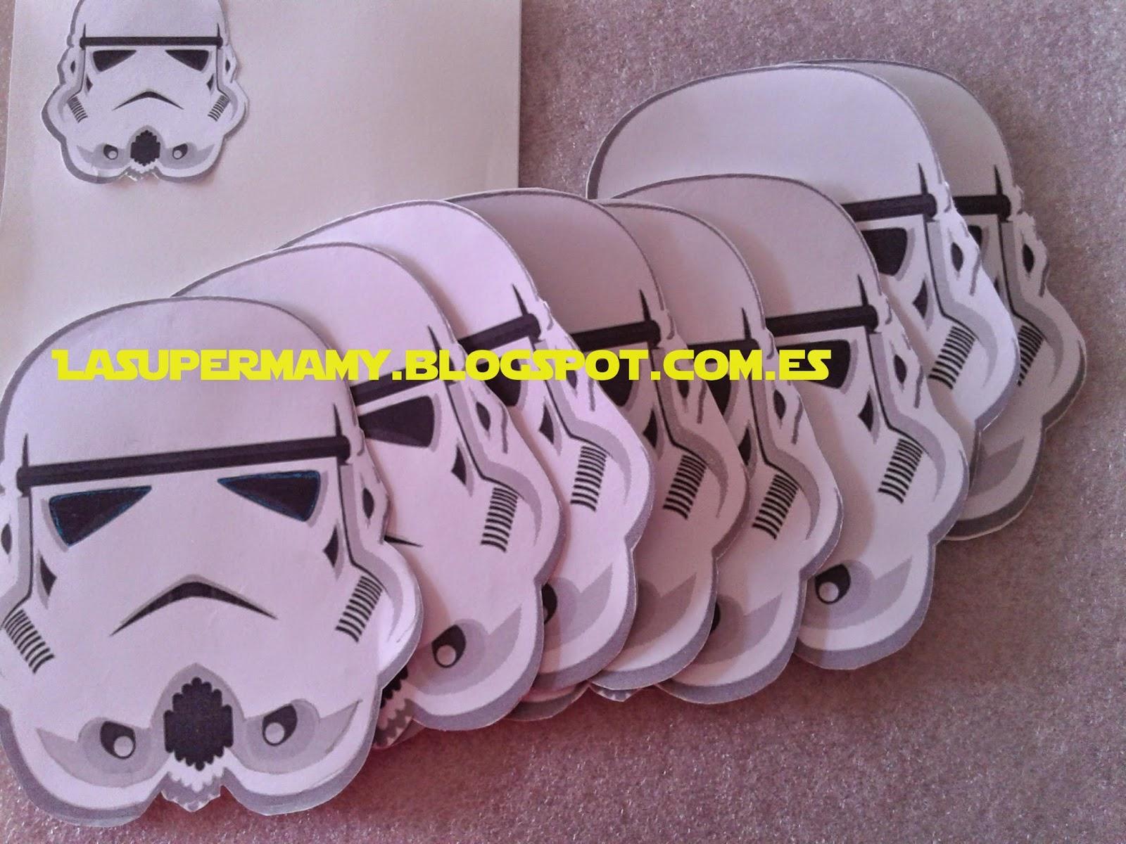 La Super Mamy: Cumple: Invitación Stormtrooper (Star Wars)