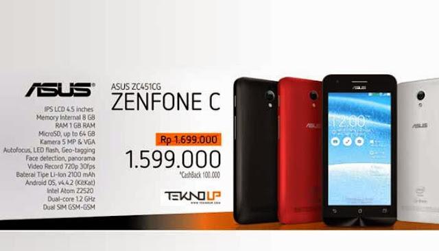 HP Asus Zenfone C - Harga Terbaru Asus Zenfone C