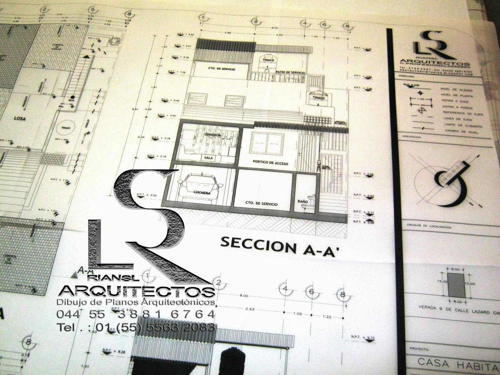 Arq rigoberto s nchez especialista en dibujo de planos for Dibujos de muebles para planos arquitectonicos