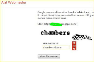 cara daftar blog ke Google webmaster tools