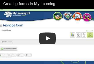 Creating forms in My Learning