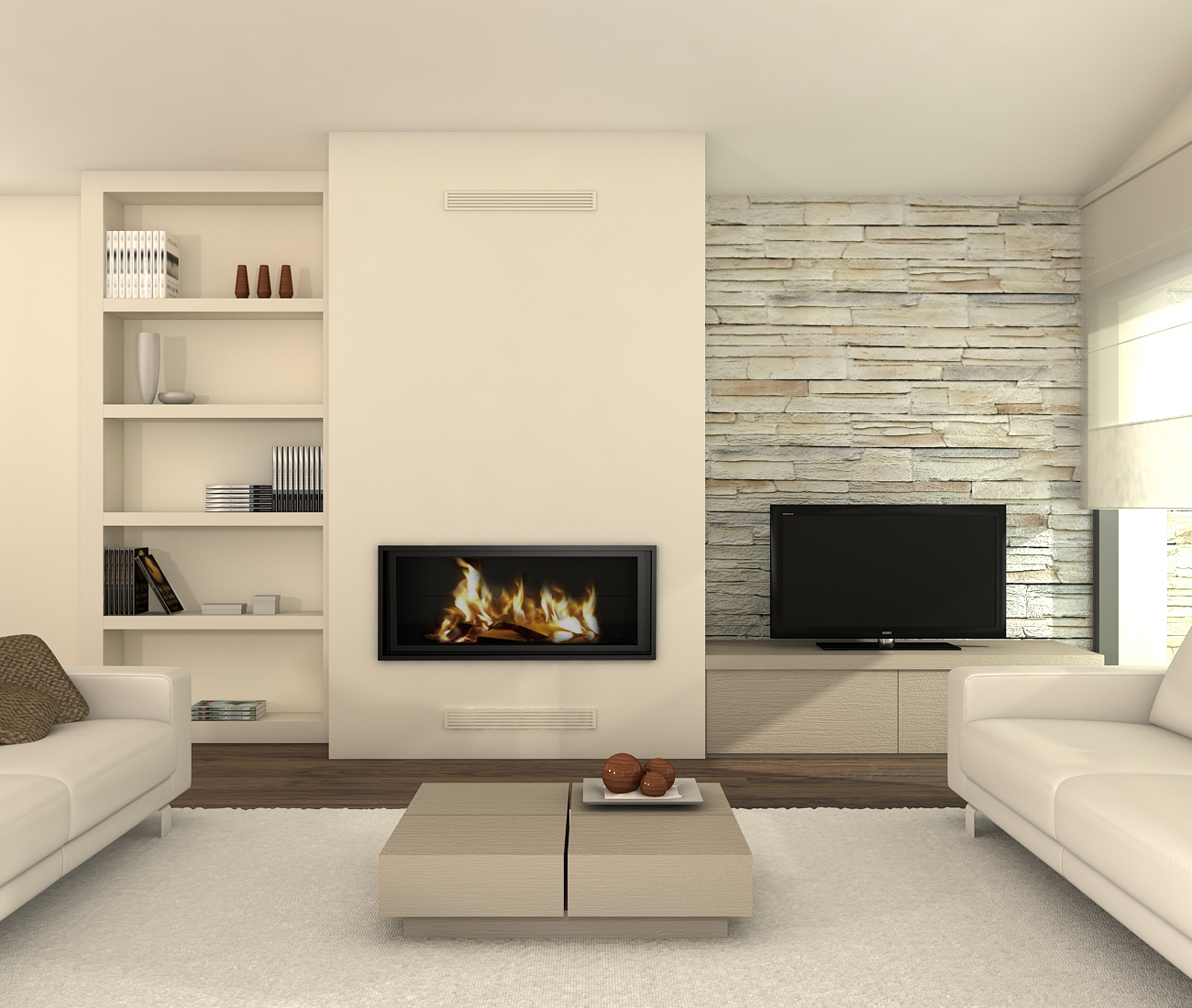 Visi n interiorista chimeneas minimalistas - Chimeneas minimalistas ...