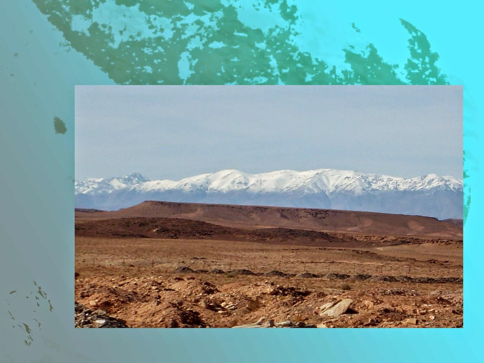 atlas montagne neige ciel maroc