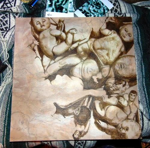 Painting: Rummage progress 03