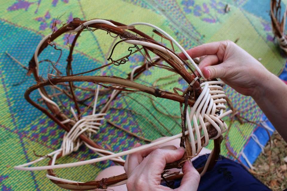 Basket Weaving Aboriginal : Edward and lilly basket weaving camp