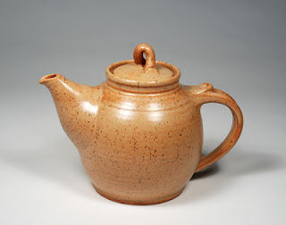 speckled red-brown glazed teapot