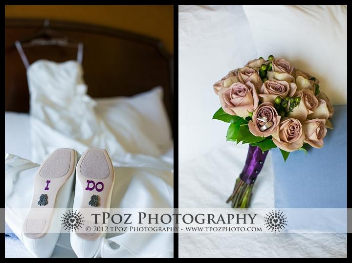 Kurtz's Beach Wedding Shoes Flowers