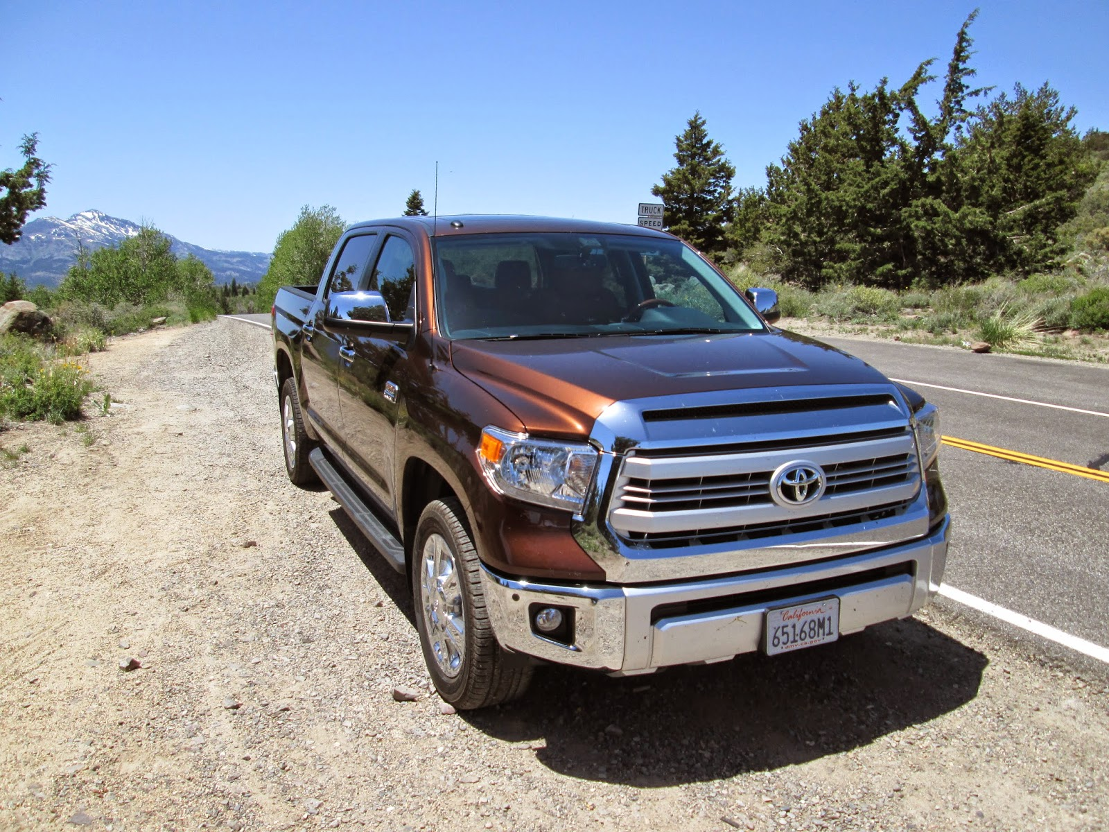 Front 3/4 view of 2014 Toyota Tundra 1794 Edition
