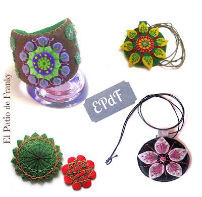 artesania handmade fieltro el patio de franky bisuteria
