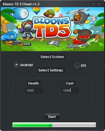 Bloons TD 5 Hack