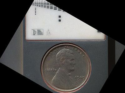 1 пенни USA в роли одного из калибровочных элементов камеры марсохода Curiosity