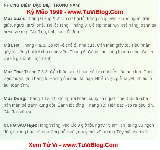 Kỷ Mao 1999 Nu Mang