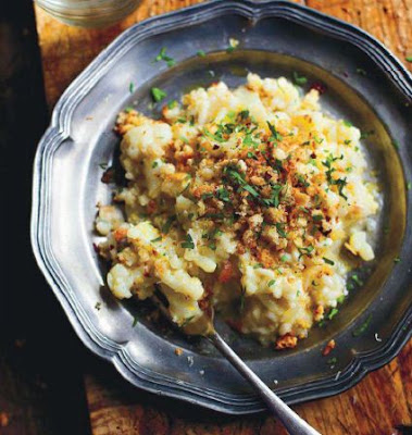 Cauliflower risotto with chilli pangrattato