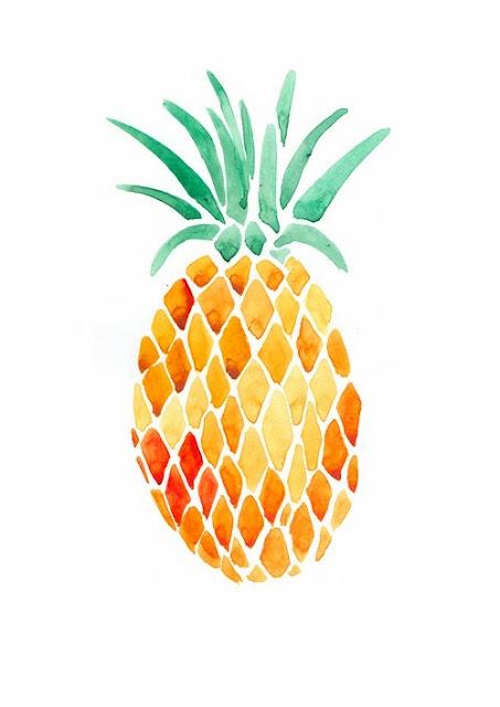 Ananas pineapple sunday jaune yellow