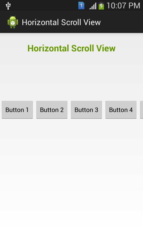 HorizontalScrollView Android Widget