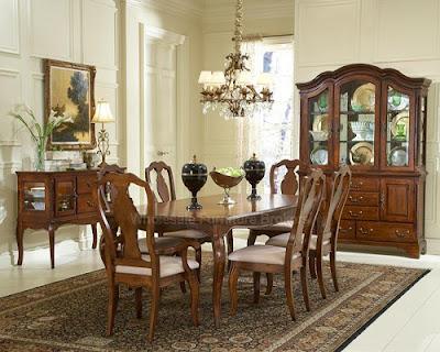 teak dining room set modern interior design
