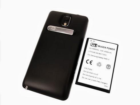 Disponibile dal 6 dicembre una batteria alterina da 6500 mah per Galaxy Note 3