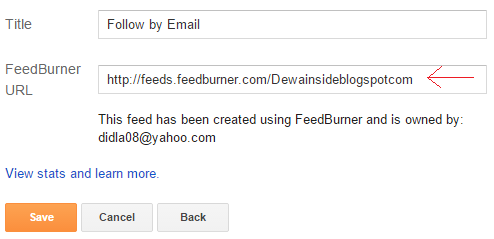 Cara Memasang Email Subscribe di Blogger