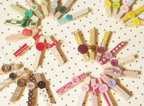 Ilclanmariapia l 39 arte del decoro mollette for Decorative pins for crafts