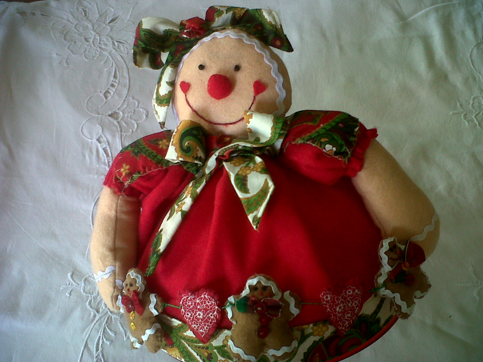 Adornos navide os galleta de jengibre elaborada en - Adornos navidenos en tela ...