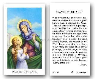 Prayer to saint ann