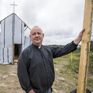 Giles Fraser in Calais
